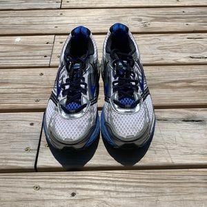 Men's Brooks Adrenaline GTS14 White BlueShoes 10.5